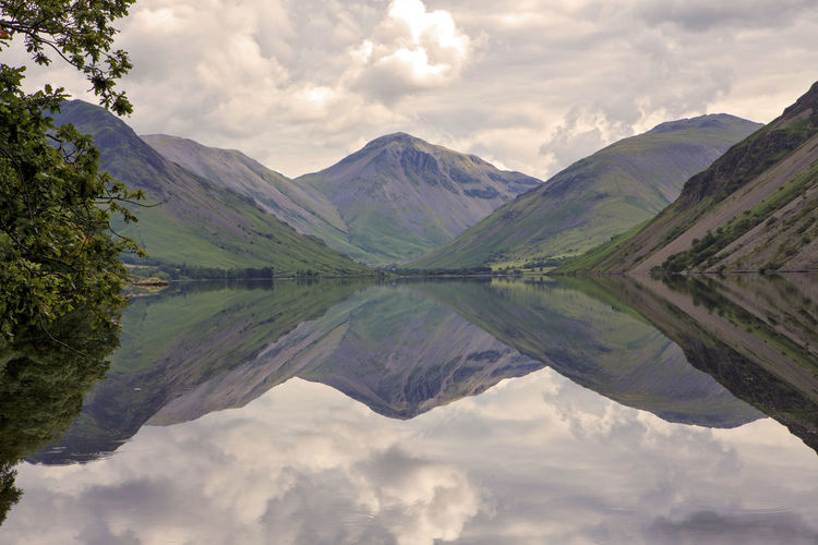 Beauty In Nature Cloud - Sky Cumbria England UK Day Lake Lake District Landscape Landscape_photography Mountain Mountains National Park Nature Nature Nature Photography No People Outdoors Reflection Scenics Sky Water Water Reflection Betterlandscapes
