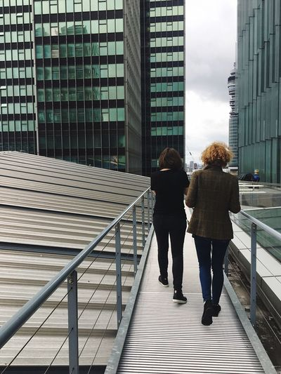 Two People Rear View Full Length Built Structure Walking Architecture Women Togetherness City Young Women Young Adult Friendship Building Exterior Day Outdoors Adult Only Women People Adults Only Sky EyeEm LOST IN London