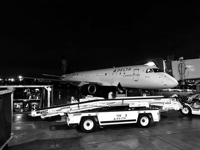 Missed you so much that I begged you to fly here n see me. Transportation Mode Of Transport Airplane Airport Runway Airport Air Vehicle Passenger Boarding Bridge No People Travel Illuminated Outdoors Night Sky