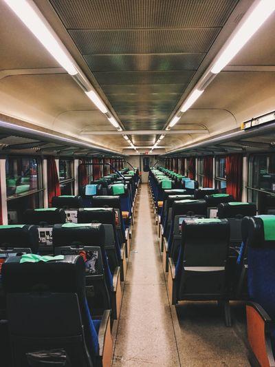 Stockholm Centralstation Empty Train