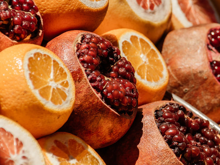 Tasting Close-up Color Colorful Fruit Shop Fruit Shopping Fruits Juicy Macro Pomegranate Red Fruits Smelling Southern Fruits