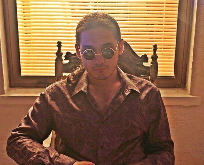 my old style Behind Lights Mafia  Boy Toughguy Tough Guy Glasses Chair Godfather Longhair Shirt