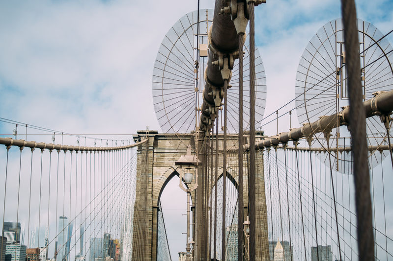 Brooklyn Bridge  City Construction New York Bridge Bridge - Man Made Structure Built Structure Connection Low Angle View Outdoors