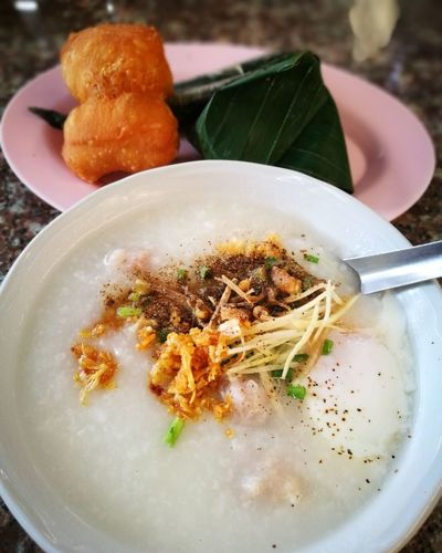 Thai Food Thai Street Food Chinese Donut Breakfast Rice Porridge EyeEm Selects Food And Drink Food Healthy Eating Ready-to-eat Plate Chinese Food Indoors