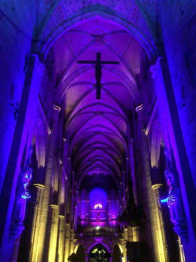 Marienkirche Reutlingen Orgelkonzert Church Lightshow Colorful Lights Kirchenschiff Medieval Architecture Architecture_collection No Flash/no Edit Lamps Collection
