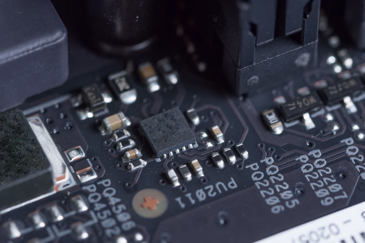 Close-up of circuit board