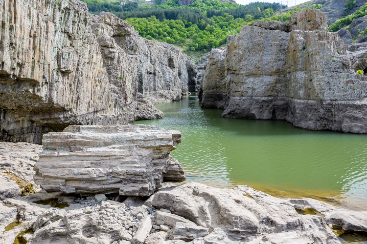 Scenic View Of Rock Formation In Water