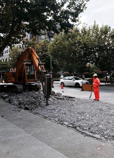 永无休止 ... Tree Transportation Car Land Vehicle Road Day Branch Outdoors Person City Life