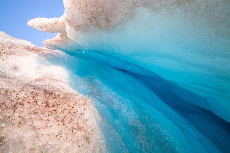 Close-Up Of Blue Glacier