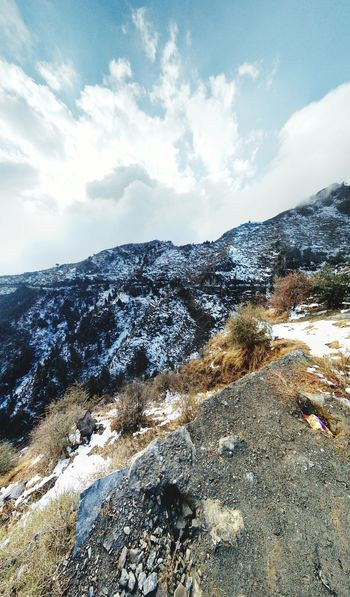 Snow fall Snow ❄ Cloud - Sky White Uttarakhand Landscape Mountain Range Outdoors Sky Mountain Peak Nature Mountain
