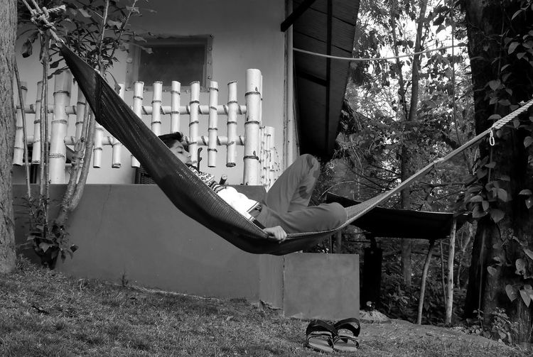 Scenic View Beauty Beauty In Nature Tranquility Scenics - Nature Tranquil Scene Outdoor Photography Blackandwhite Freshness Calm My Best Photo Idyllic Scenics Trees And Sky Men Architecture Rope Swing Outdoor Play Equipment Residential Structure