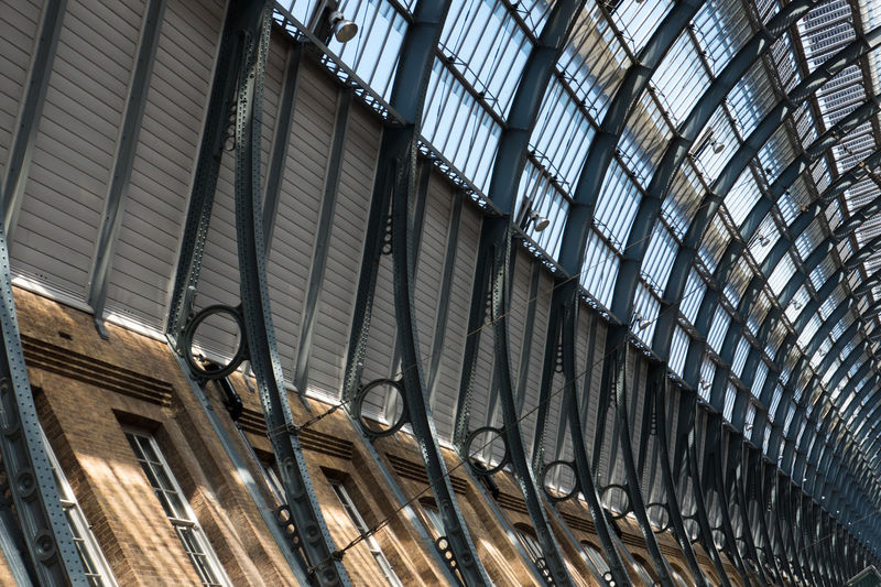 Traditional Roof in King's Cross Station King's Cross, St Pancras International Roof Station Symmetry In Nature Architecture Built Structure Day Full Frame Indoors  Low Angle View No People Pattern