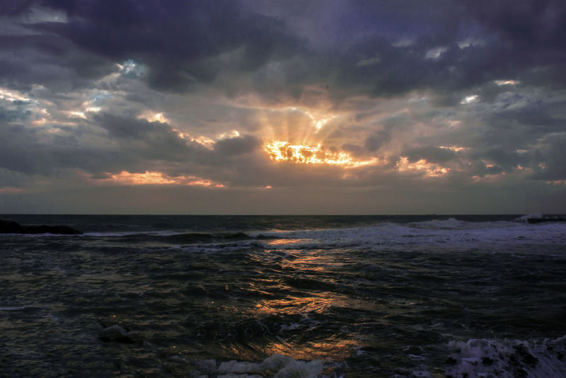 Hello World Nature Taking Photos EyeEm Best Shots Beach Cloud - Sky Horizon Over Water Nature No People Ostia Outdoors Scenics Sea Sky Sunset Water Wave Beauty In Nature Tranquility Power In Nature