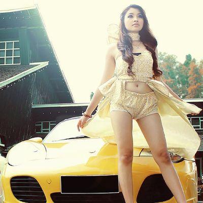 Kofaba Model Yellow Lamborghini cargirlpicpicturelikethumbinstamagandroidpose