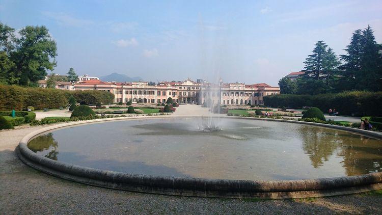 Fountain Water Spraying Tree Architecture Garden Sky Park Buongiorno Varese