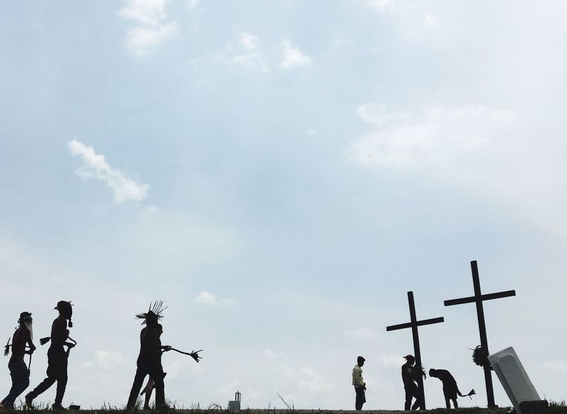 """""""Maleldo"""" Crucifixion of Jesus Christ Filipino Belief Catholic Faith Crucifixion Of Christ Maleldo 2018 Sky Cloud - Sky Low Angle View Nature Group Of People Day Silhouette"""