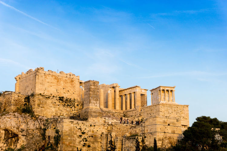 Acropolis Ancient Ancient Civilization Architecture Building Exterior Built Structure Day History Low Angle View No People Old Ruin Outdoors Sky The Past Travel Destinations Tree