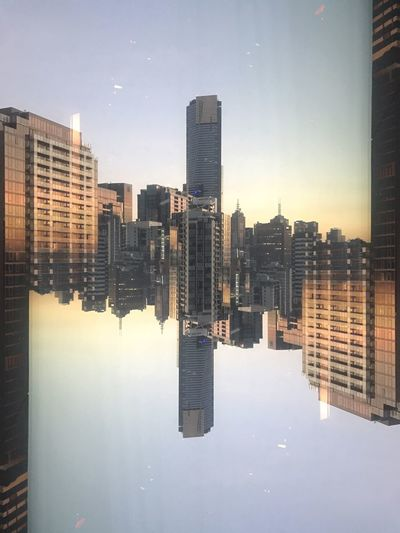 Inceptioned urban reflection photography