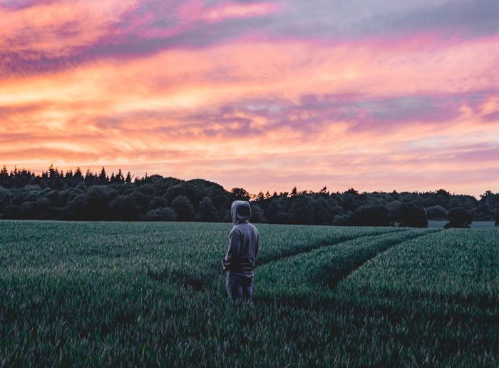 Field Agriculture Growth Sunset Nature Sky Farm Real People Landscape Senior Men Beauty In Nature Crop  Senior Adult Rural Scene Men Cloud - Sky Scenics Tranquil Scene Outdoors Adult The Great Outdoors - 2017 EyeEm Awards