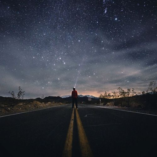 Astro Death Valley National Park EyeEmNewHere EyeEm Best Shots One Person Star - Space Road Astronomy One Man Only Galaxy Sky Road Trip Outdoors Landscape Lost In The Landscape California Dreamin The Great Outdoors - 2018 EyeEm Awards