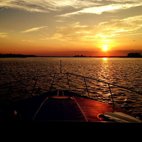 Sunset Waves, Ocean, Nature Ocean Boats Sky Sunset_collection Sunsets Serenity From My Point Of View Nature