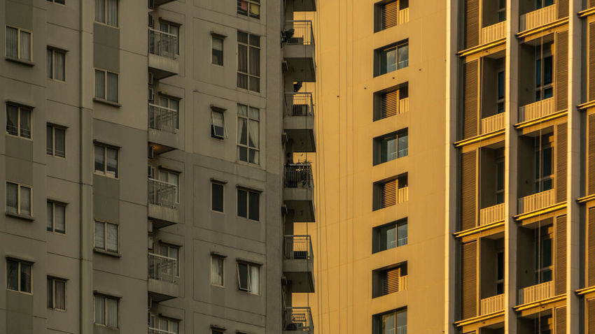 Apartment's balconies facing another apartment's windows City Exterior Apartments Balconies Balcony Block Building City Living Concrete Concrete Jungle Crowded Face To Face Glass High Rise Building Pattern Residential Building Structure Tall Urban Urban Life Window Windows The Architect - 2018 EyeEm Awards