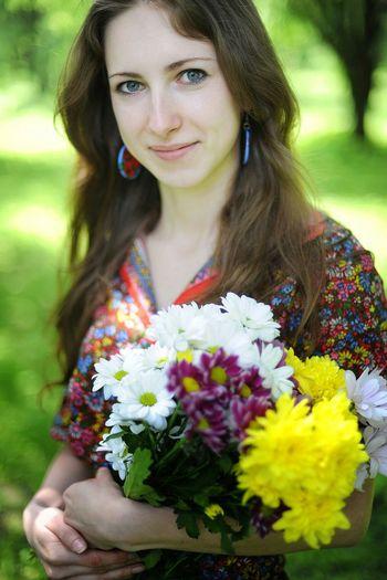 Spring Into Spring Fresh Bright Model Hello World Kiev It's Me Flowers Blossoming  Girl