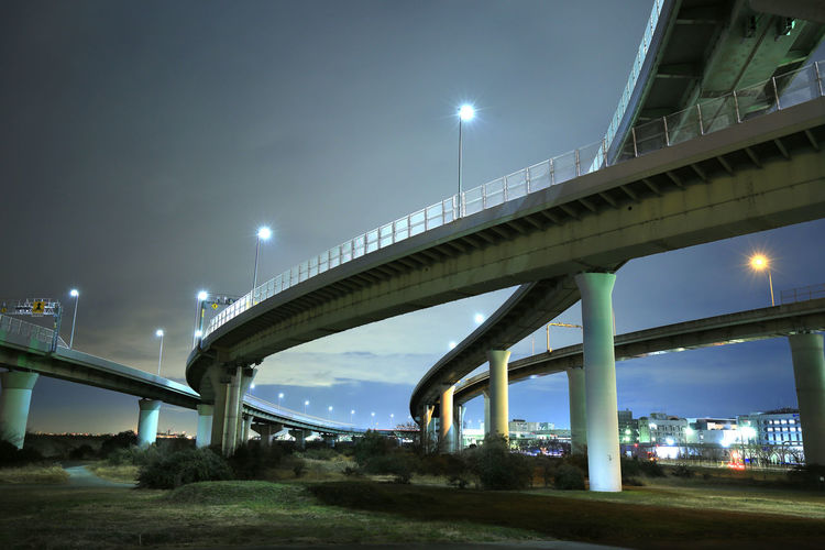 japan highway night Interchange  Architectural Column Architecture Bridge Bridge - Man Made Structure Building Exterior Built Structure City Connection Elevated Road Engineering Illuminated Low Angle View Multiple Lane Highway Nature Night Outdoors Overpass Road Sky Skyscraper Street Street Light Transportation