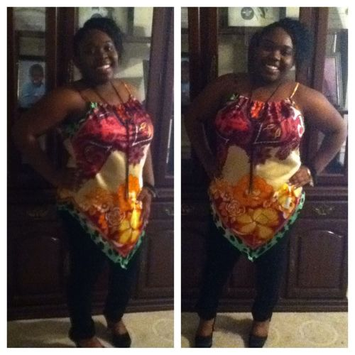 Me today for the hair show had a lot of fun!!
