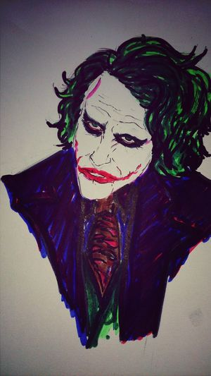 Drawing Coloursketch Joker why so serious???