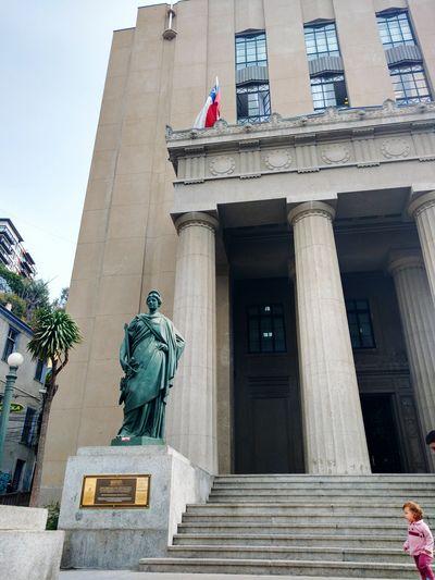 Architecture Building Exterior Politics And Government Statue Valparaiso, Chile