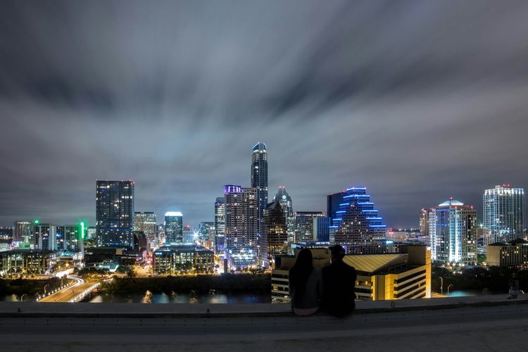 Cityscapes The Landscapist - 2015 EyeEm Awards The Street Photographer - 2015 EyeEm Awards Rooftops Skyline Capturing Freedom From My Point Of View View Texas Skies Night Photography