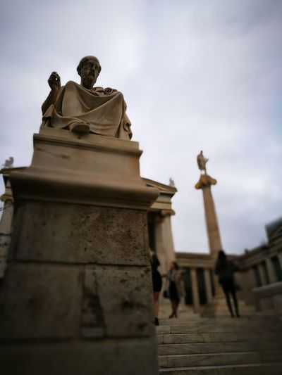 History Tourism Sculpture Philosophy Plato Athens, Greece Greece Scince Academy Academy Of Athens Ancient Philosophy