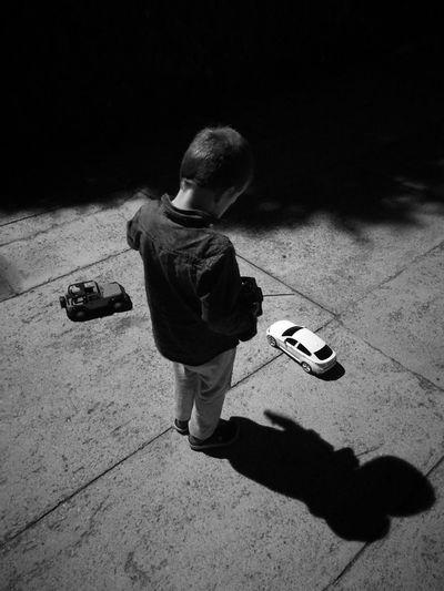 Kids B&w Photography Playing Car First Eyeem Photo