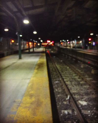 A long way to go and a short time to get there. New York New Jersey Nyc's View From Hoboken LGarciaPhotography Train Station Lights City Lights Iphonephotography Architecture Cityscapes