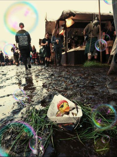 EyeEmNewHere Outdoors Day People Duck Pfützenfotografie Multi Colored Festivals Wacken Open Air