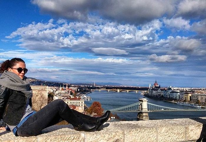 Buda Castle Sky And Clouds Must Love ♥ Theview Bridge River Riverside River View Traveling Vacation Girls Weather Amazing View View Photoshoot Capture The Moment Enjoy Photo JustMe My Best Travel Photo