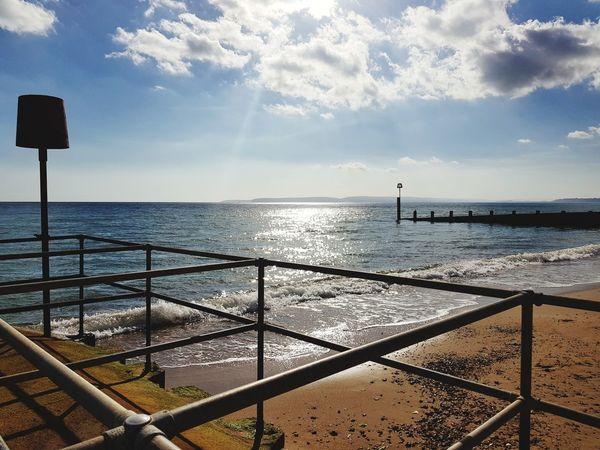 Beach EyeEm Selects Bournemouth Water Sea Bird Sunlight Sky Horizon Over Water Cloud - Sky Lifeguard Hut Lifeguard  Shore Sandy Beach Sand