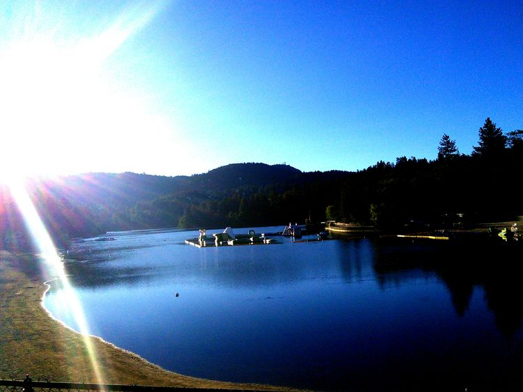 Crestline Lake Gregory Mountains California Relaxing Lake Photography