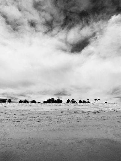 Blackandwhite Cloud - Sky Sky Land Beach Water Nature
