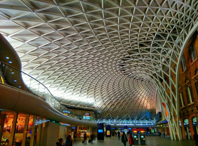 Train Station King's Cross, St Pancras International Architecture London United Kingdom Patterns