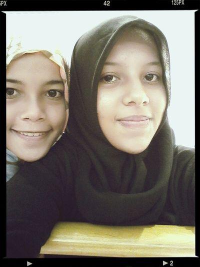 With one of my twin Sisters. Huwahahaha