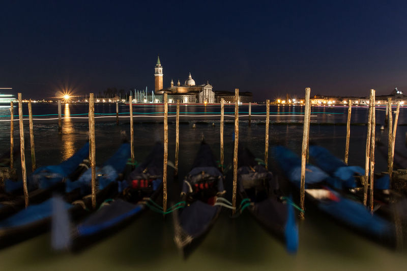 Architecture Built Structure Calm City Illuminated Italy Night Sea Skyline Tranquil Scene Tranquility Venice Water