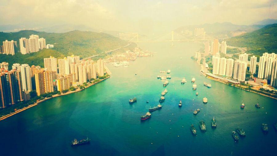 从85楼的酒店窗户往外看 HongKong The View From My Window Amazing Sea