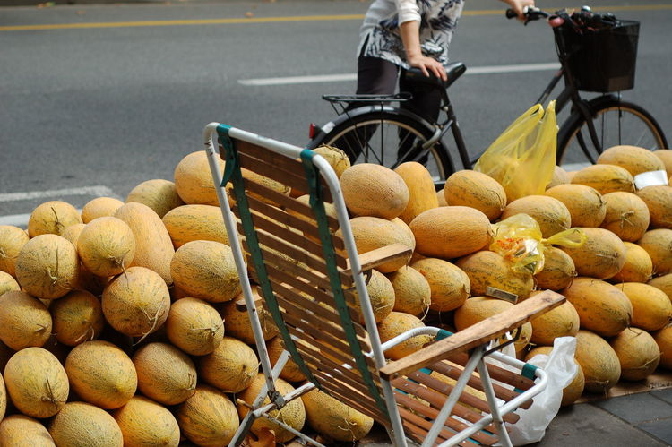 Business Melons Bike China Food Food And Drink Fruit