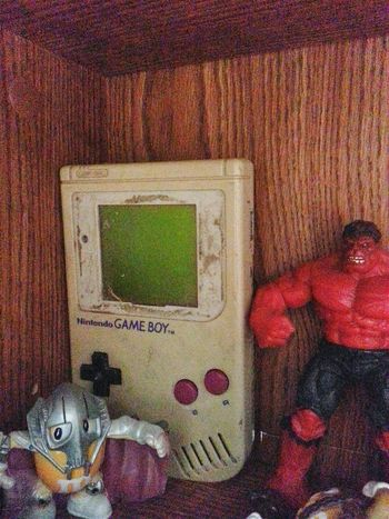 Early Throwbackthursday  lol my NintendoGameBoy, hanging out with the Marvels Red Hulk and M&m General Grevious lol i my poor gameboy has been through some rough times lol😂 Taking Photos Check This Out DaveyBlackheart TBT  Oldconsoles Handheld Retro Gaminglife Games Gamer Oldschool Justforfun