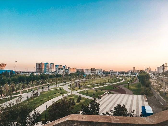 City park in volgograd, russia