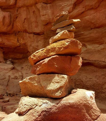 First Eyeem Photo Rock Stacked Stones Stacked Rocks Canyons Coloured Canyon Egypt Balancing Rocks