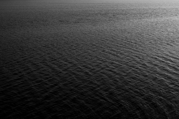 Calm Dark Backgrounds Black Sea Black Water Blackandwhite Day Depressed Depression Full Frame Infinity Lake Nature No People Noir Ocean Outdoors Pattern Rippled Sea Textured  Tranquility Vast Water Waves