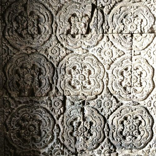 Temple Wall Majapahit Mataram Volcanic Rock Stone Sculpture Concentric Backgrounds Full Frame Pattern Close-up Civilization Ancient Archaeology Old Ruin Floral Pattern Ancient Civilization
